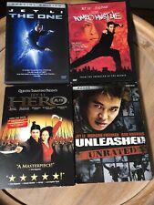 Jet Li 4 Dvd Movie Lot- The One, Romeo Must Die, Hero, Unleashed