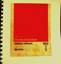 1969-1972 AMF Harley-Davidson Service Manual The Servi-Car .#99486-72 Free Shipp