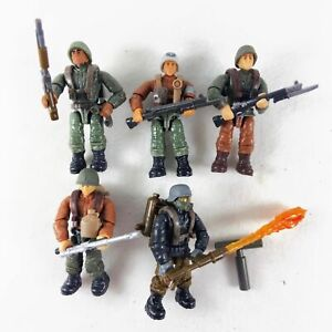 Lot of 5pcs Mega Bloks Construx Call of Duty WWII Soldiers with Guns Weapons