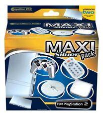 Controlador PS2 de plata, control remoto, soporte y CD Cartera (Competition Pro) (Nuevo)