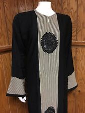 Khaleeji Embroidered Abaya Muslim Jilbab With Hijab Dubai Size XL 60