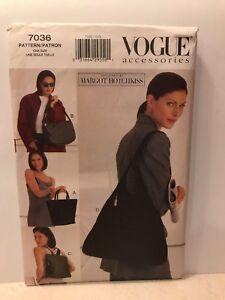 1999 Vogue Sewing Pattern 7036 Margot Hotchkiss Backpack Handbag Satchel