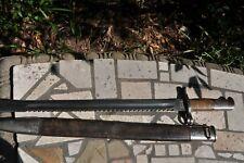 New listing Swiss M1914 Schmidt Rubin Pioneer Sawback bayonet and scabbard