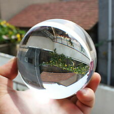60mm Clear Round Glass Artificial Crystal Healing Ball Sphere Decoration SOU