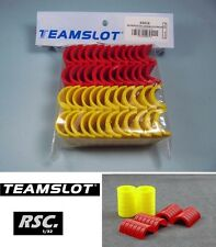 TEAM SLOT 1:32 YELLOW / RED TYRE WALL 24 UNITS - 63016 TRACK SCENE CAR DIORAMA