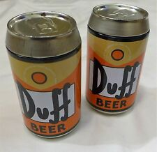 The Simpsons Duff Beer Cans with Playing Cards Set of 2