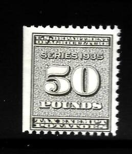 HICK GIRL-OLD M.N.H. U.S. REVENUE 50 POUND POTATOES TAX EXEMPT STAMP     X1608