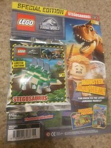 LEGO Jurassis World Magazine - Issue 11 - FREE SEALED STEGOSAURUS