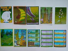 10 cartes postales MORDILLO / VERLAG tendance VERT