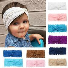 Beautiful  Baby Girls Lace Stretch Elastic Handwear Headbands Chiffon Hair Band