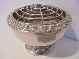 """VINTAGE SILVER PLATED IANTHE LARGE POSY / ROSE BOWL HEIGHT 4¾"""""""