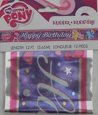 """Party Banner MY LITTLE PONY """"Happy Birthday"""" Decoration Supplies 12 ft"""