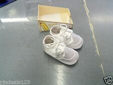 New Baby Deer Infant Girls Boys Size 2 Satin Lace Up Crib Shoes FREE Shipping!!