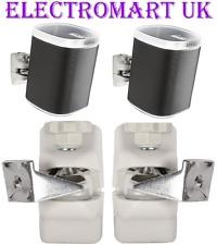 1 par B-Tech Sonos Play 1 Parlante Altavoz Soportes de pared de inclinación giratoria Blanco