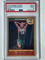 2013-14 NBA Hoops #275 GIANNIS ANTETOKOUNMPO Gold Rookie RC PSA 9! 2xMVP💍🐐📈