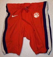 """CLEMSON Tigers Authentic Player-Issued Football Game """"Hot"""" PANTS-Orange w Purple"""