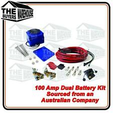 DUAL BATTERY KIT 12V 4WD BOATING CARAVAN SYSTEM 135 AMP + CIRCUIT BREAKER 100