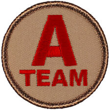 The Greatest EVER Boy Scout Patrol Patch - A TEAM! (#029A) Red Letters