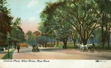 1909 CENTRAL PARK WEST DRIVE NEW YORK*ANTIQUE POSTCARD*MIDDLE VALLEY NY*HIRSCH