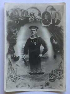Porträt kaiserl.Marine Mützenband SMS Kurfürst Friedr.Wilh. Spange Chinamedaille
