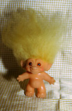 Vintage Thomas DAM Troll from 1964 with Yellow Mohair