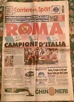 CORRIERE DELLO SPORT ROMA CAMPIONE D'ITALIA 2000/2001 3° SCUDETTO TOTTI