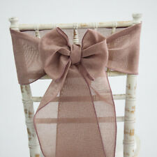 LINEN BURLAP SASHES AND MATCHING TABLE RUNNERS 15 COLOURS WEDDING CHAIRS EVENTS