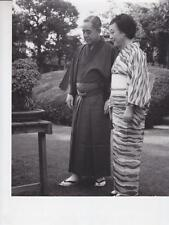 Prime Minister and Mrs. Sato- garden of their home in Tokyo -Press Photo