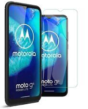 For Motorola Moto G8 Power Lite Carbon Fibre Cover & Glass Screen Protector