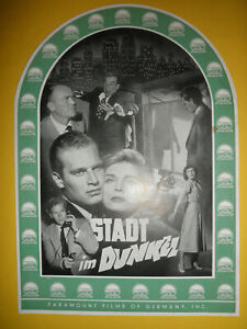Stadt im Dunkel / EA-Werberatschlag 1953 / Charlton Heston, Lizabeth Scott