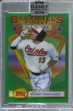 2018 Topps Clearly Authentic 1993 Finest Stars /50 Manny Machado #93Fsa-Mm Auto