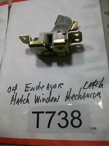 2004 MITSUBISHI ENDEAVOR Hatch WINDOW Latch Mechanism OEM #T738