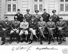 General George S. Patton Dwight Eisenhower Autograph WWII 8 x 10 Photo #h1