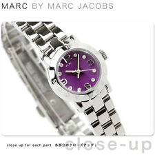 Marc By Marc Jacobs Amy Dinky silver Tone Watch and Purple dial  MBM3228 *NWT*