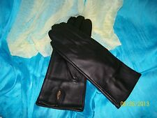 Ladies Genuine Leather Gloves - Brown Leather - Faux Leopard Cuff