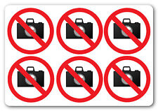 NO PHOTOGRAPHY / NO CAMERAS | health and safety warning first aid sticker signs