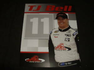 2009 T.J. BELL #11 RED HORSE RACING NASCAR POSTCARD