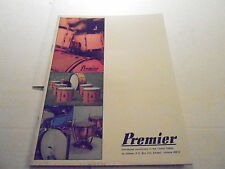VINTAGE MUSICAL INSTRUMENT CATALOG #10276 - 1973 PREMIER DRUMS