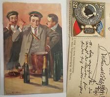 Mittweida - DÖL Ostmark - 1911 - Vignette / Studentika Georg Mühlberg