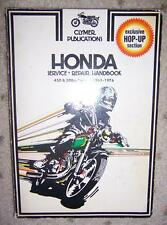 1965 1976 Honda Motorcycle Manual 450 500 cc Twins  F