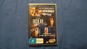 16 Blocks/Lock Up/The 6th Day - DVD - R4 - Free Postage