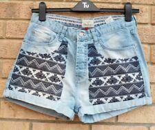 SOULCAL & Co subir azul bordado tribal Denim Jeans Pantalones cortos Pantalones Sensuales 14