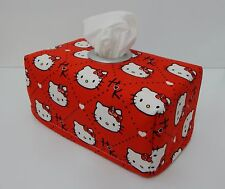 Hello Kitty Red Tissue Box Cover With Circle Opening - Lovely Gift Idea