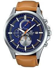 Casio Edifice Chronograph Leather Strap Men's Watch EFV-520L-2A