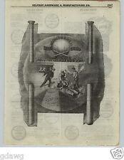 1922 PAPER AD Blue Grass Baseball Bat VERY COOL ART Sporting Goods Man Cave