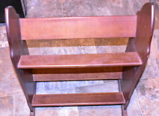 antique side bookshelf, 1940ish, Recently restored Mahogany, maybe shoe rack