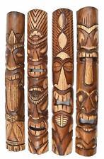 4 Tiki Masks Wooden 100cm Wall Masks Tiki Hawaii Wooden Masks Wall Mask Mask