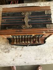 Antique Beaver Brand Germany Wood Accordion