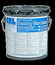 CRL N400G15 Black Two-Part Polysulfide Insulating Glass Sealant - 1-1/2 Gallons