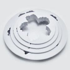 4 Peony Flower Petal Fondant Sugarcraft Cake Cookie Cutter Mold Decorating TM